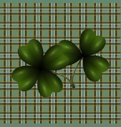 Patrick s day clover leaf translucent image vector