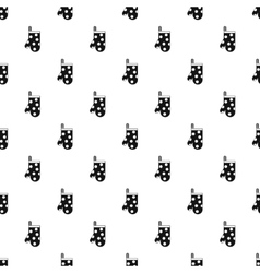 Potholder with white polka dots icon vector