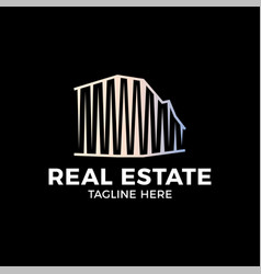 real estate construction logo design template on vector image