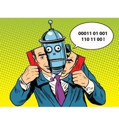 Robot instead a person vector