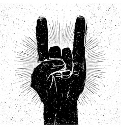 rock on gesture vector image