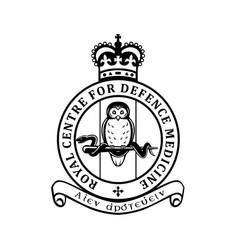 Royal centre for defence medicine rcdm crest vector