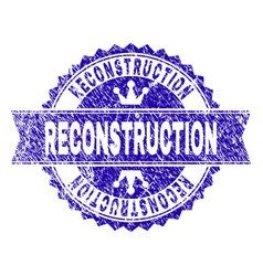 Scratched textured reconstruction stamp seal vector