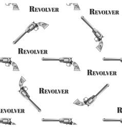 seamless retro pattern Revolver vector image