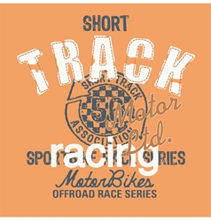 Short track racing vector