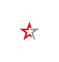 star shape logo vector image