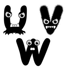 Strange Creature Font Type vector image