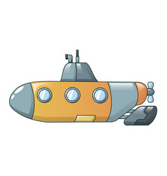 submarine icon cartoon style vector image
