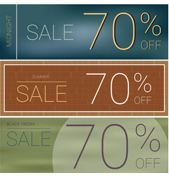 Summer sale and black friday sale template banner vector