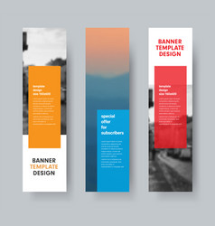 template of vertical banners with transparent vector image