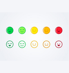 User experience feedback emoticons vector