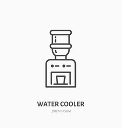 water cooler flat line icon beverage dispenser vector image