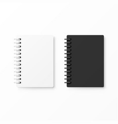White and black realistic notebooks vector