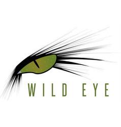 Wild eye animal design template vector