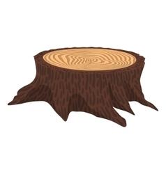 Wooden cartoon stump vector image