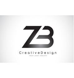 Zb z b letter logo design creative icon modern vector