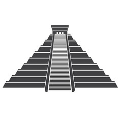 aztec pyramid icon isolated on whit mayan vector image