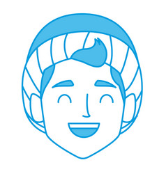 boy with winter hat face vector image vector image