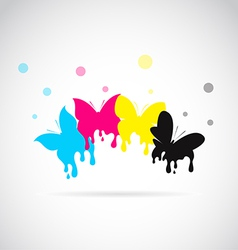 Butterfly cmyk vector image