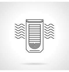 Column air conditioning flat line icon vector image