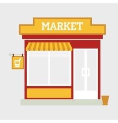 Market street store vector image