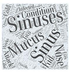 Sinus and sinus attack in children word cloud vector