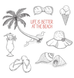 Summertime icons set vector image