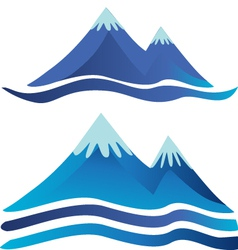 Blue mountains logos vector image