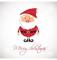 Cute Santa Claus on white christmas background vector image vector image
