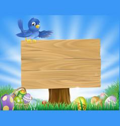 bluebird easter cartoon background vector image vector image