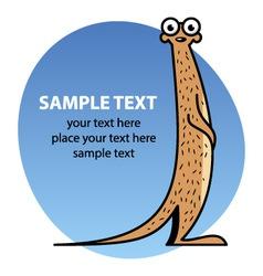 Cartoon meerkat vector