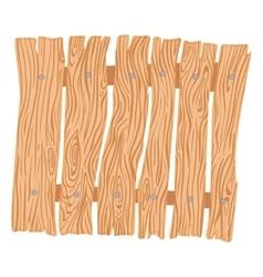 New wooden cartoon fence vector image vector image