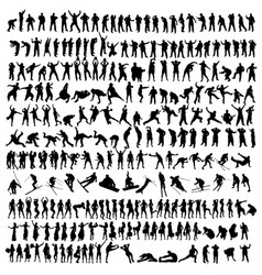 people black silhouette vector image