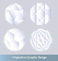 polyhedron for graphic design vector image