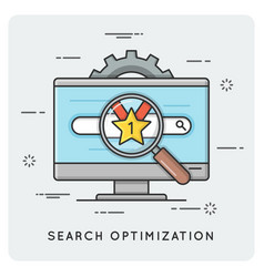 seo search optimization thin line concept vector image