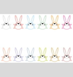 set of twelve colorful easter bunnies vector image vector image
