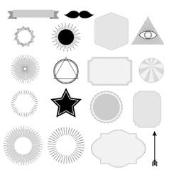 Set of vintage sunburst symbols labels tags vector image vector image