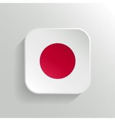 Button - japan flag icon vector
