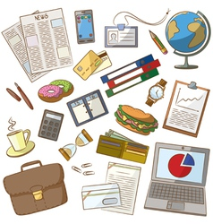Cute doodle on the business theme vector image vector image
