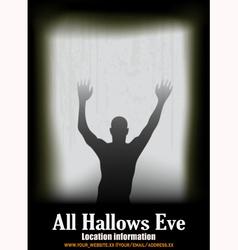 Halloween Window vector image vector image