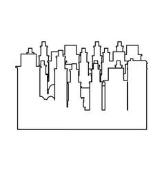 outline frame cityscape scene icon flat vector image vector image