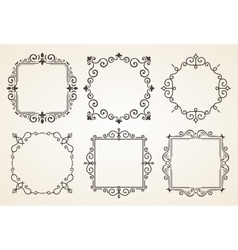Set of Victorian Vintage Decorations Elements and vector image vector image