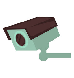 small video camera that attached to wall isolated vector image vector image