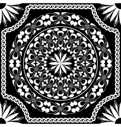 white pattern of spirals swirls and chains vector image vector image