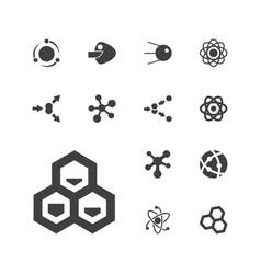 13 molecular icons vector
