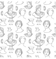 antique sculpture seamless print for print vector image