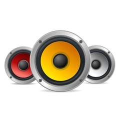 Audio Speakers vector image