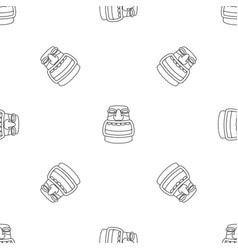 aztec idol pattern seamless vector image