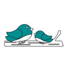 Birds and nest vector