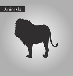 Black and white style icon of lion vector